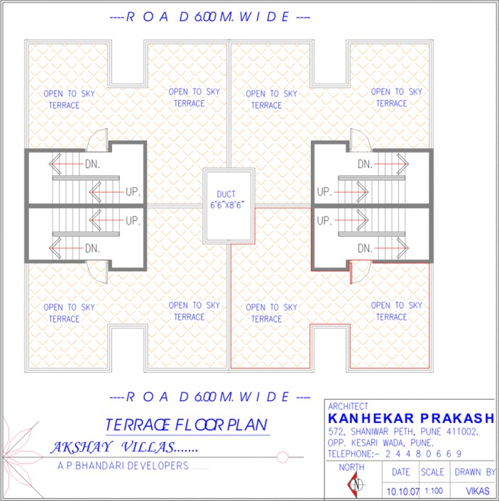 Akshay Villas Row Houses Project Layout